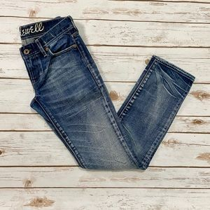 Madewell Rail Straight Leg Medium Wash Jeans